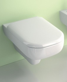 Twyford E500 Square Wall Hung Toilet & Soft Close Seat