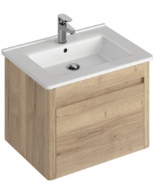 Elora 60cm Wall Hung Vanity Unit Halifax Oak