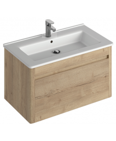 Elora 80cm Wall Hung Vanity Unit Halifax Oak