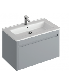 Elora 60cm Wall Hung Vanity Unit Pearl Grey
