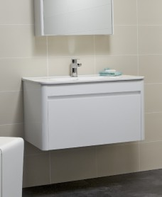 Elora 80cm White Vanity Unit and Basin