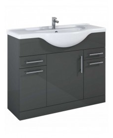 Blanco 105 Gloss Grey Vanity Unit & Basin