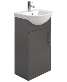 Blanco Gloss Grey 45cm Vanity Unit & Basin