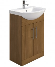 Blanco Walnut 55cm Vanity Unit, Basin - **Over 50% Off