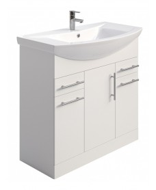Blanco 85cm Vanity Unit Pack - PRICE INCLUDES UNIT, BASIN and TAP
