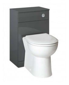 Blanco Gloss Grey Back to Wall Unit ** Includes Concealed Cistern
