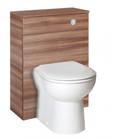Paola Walnut Back to Wall Slimline Unit with Concealed Cistern