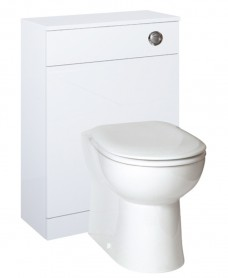 Paola White  Back to Wall Slimline Unit with Concealed Cistern