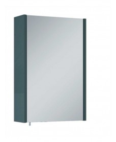 Soho Plus 42cm Gloss Grey Single Glass Mirror Cabinet