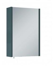 Soho Plus 42cm Gloss Grey Single Glass Mirror Cabinet