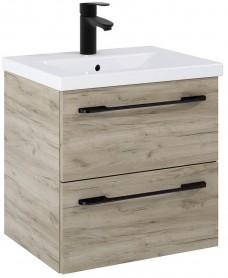 Soho Plus 60cm Craft Oak Vanity Unit with Basin