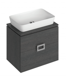 Ava 65cm Base Unit Dark Wood & Enya Basin