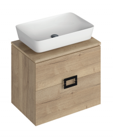 Ava Halifax Oak 65 Vanity Unit and ENYA Countertop Basin