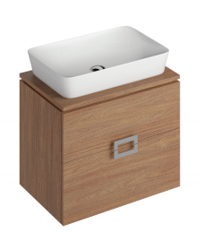 Ava Walnut 65 CounterTop Vanity Unit and ENYA Basin