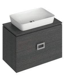 Ava 80cm Base Unit Dark Wood & Enya Basin