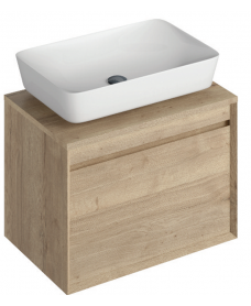 Regina 65cm Base Unit Halifax Oak and Enya Basin