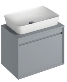 Regina 65cm Base Unit Pearl Grey and Enya Basin