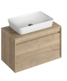 Regine 80cm Base Unit Halifax Oak & Enya Basin