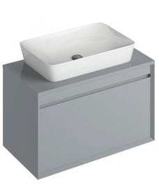 Regine 80cm Base Unit Pearl Grey & Enya Basin