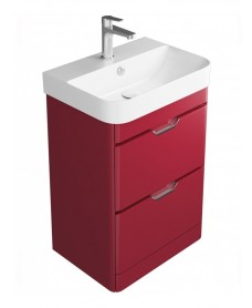 Aquiana Red 48 Floor Standing Vanity Unit - 2 Drawer