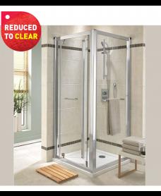 Twyford Geo6 Bifold Shower Door 760mm - Adjustment 710mm - 760mm - REDUCED TO CLEAR