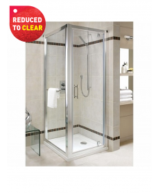 Twyford Geo6 Pivot Shower Door 800mm- Adjustment 750mm - 800mm - REDUCED TO CLEAR