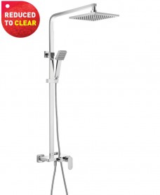 Athens Flat Shower Valve, Rigid riser & Bath filler - REDUCED TO CLEAR