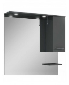 Blanco Gloss Grey 100 Mirror with LED Light & Pullcord