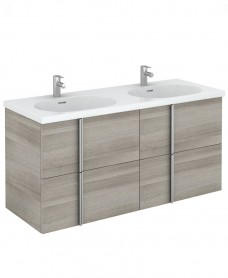 Athena 120 Unit 4 Drawer Sandy Grey & Idea Basin - REDUCED TO CLEAR**