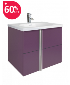 Athena Aubergine 60cm Vanity Unit 2 Drawer and Aida Basin - *60% off