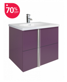 Athena Aubergine 60cm Vanity Unit 2 Drawer and Aida Basin - *70% off While Stocks Last