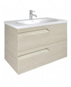 Pravia Maple 100 cm Wall Hung Vanity Unit and AIDA Basin