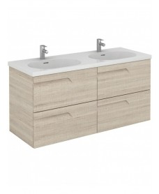 Pravia Maple 120 cm Wall Hung Double Vanity Unit and AIDA Basins