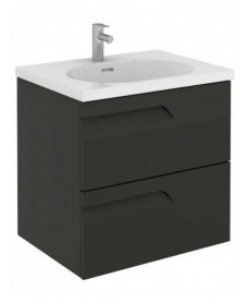 Pravia Gloss Grey 60 cm Wall Hung Vanity Unit and AIDA Basin