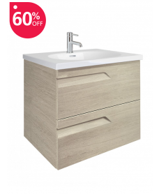 Pravia Maple 60cm Vanity Unit 2 Drawer and Aida Basin - ** 60% Off