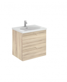 Pravia Natural Beige 60 cm Wall Hung Vanity Unit and AIDA Basin