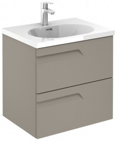 Pravia Smokey Matt 60 Wall Hung Vanity Unit and Idea Basin - ** REDUCED TO CLEAR