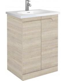Pravia Maple 60 Floor Standing Vanity Unit and AIDA Basin - ** 60% Off