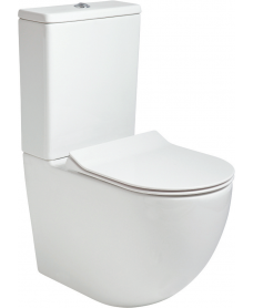 Tara Fully Shrouded RIMLESS Toilet and Slim Soft Close Seat
