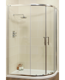 Kyra Range 900x800 Offset Quadrant Two Door Shower Enclosure - Adjustment 855-880mm + 755-780mm