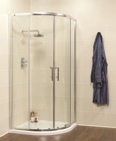 Kyra 900 Quadrant and  JT Ultracast Shower Tray With 2 Upstands