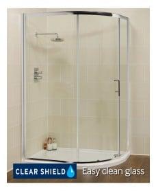 Kyra Range 1000 mm x 800 mm Offset Quadrant Single Door Shower Enclosure