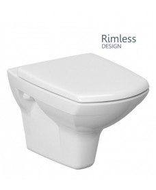 Nanuna Rimless Wall Hung Toilet with Horizontal Outlet and Soft Close Seat - **FURTHER REDUCTIONS 70% OFF