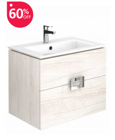Ava Light Wood 55 cm Wall Hung Vanity Unit and Basin ** Further Reductions**