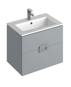 Ava Pearl Grey 65 cm Wall Hung Vanity Unit and Basin