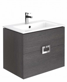 Ava Dark Wood 55 cm Wall Hung Vanity Unit and Basin