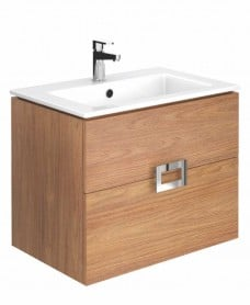 Ava Walnut 55 cm Wall Hung Vanity Unit and Basin