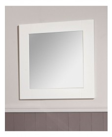 Ashbury Chalk White Mirror W600 x H600mm