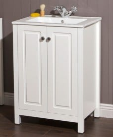 Ashbury Traditional 60 Chalk White Vanity Unit & Totano Basin