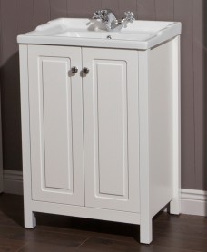 Ashbury Traditional 60 Chalk White Vanity Unit & Vitaria Basin